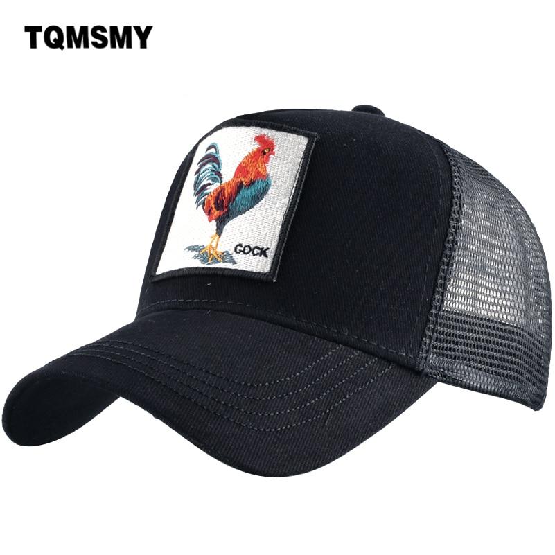 TQMSMY Men Women   Baseball     Cap   Hats For Men Trucker Hat Cock Adjustable Cotton Mesh Snapback Hat Bone Gorras Casquette TMDHJ