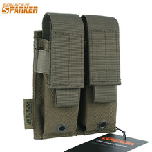 EXCELLENT ELITE SPANKER Outdoor Military Tactical Double Pistol Mag Pouch Ammo Clip Holster Pouches Universal Hunting Equipment