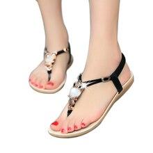2018 Donne Sandali Piatti di Vibrazione Del Gufo Strass Perizoma donne  scarpe Sandali di Modo Delle Donne Sandali Piani Della Sp.. 88c16bf4e68