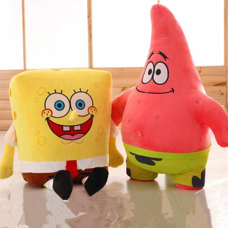 Sponge Bob Creativo nuovo 20 centimetri Spongebob E 20 centimetri Patrick Peluche Giocattolo Molle Del Fumetto Del Giocattolo per I Bambini di Compleanno Della Bambola regalo Della Decorazione Della Casa