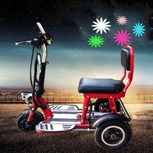 Citycoco Electric Scooter Folding Lithium 3 Round Wheel Tire Safe Motorcycle for Elderly Disabled  Tricycle Scooter