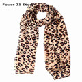 New Women leopard printed scarf Fashionable pashmina long shawl cape chiffon tippet muffler Scarves Free shipping Wholesale