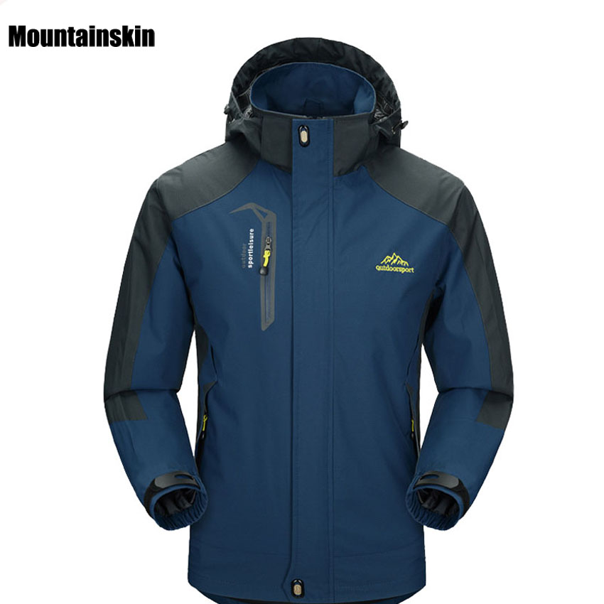 Hiking Jackets Softshell Outdoor Waterproof Windproof Camping Climbing-Coat Mens Male