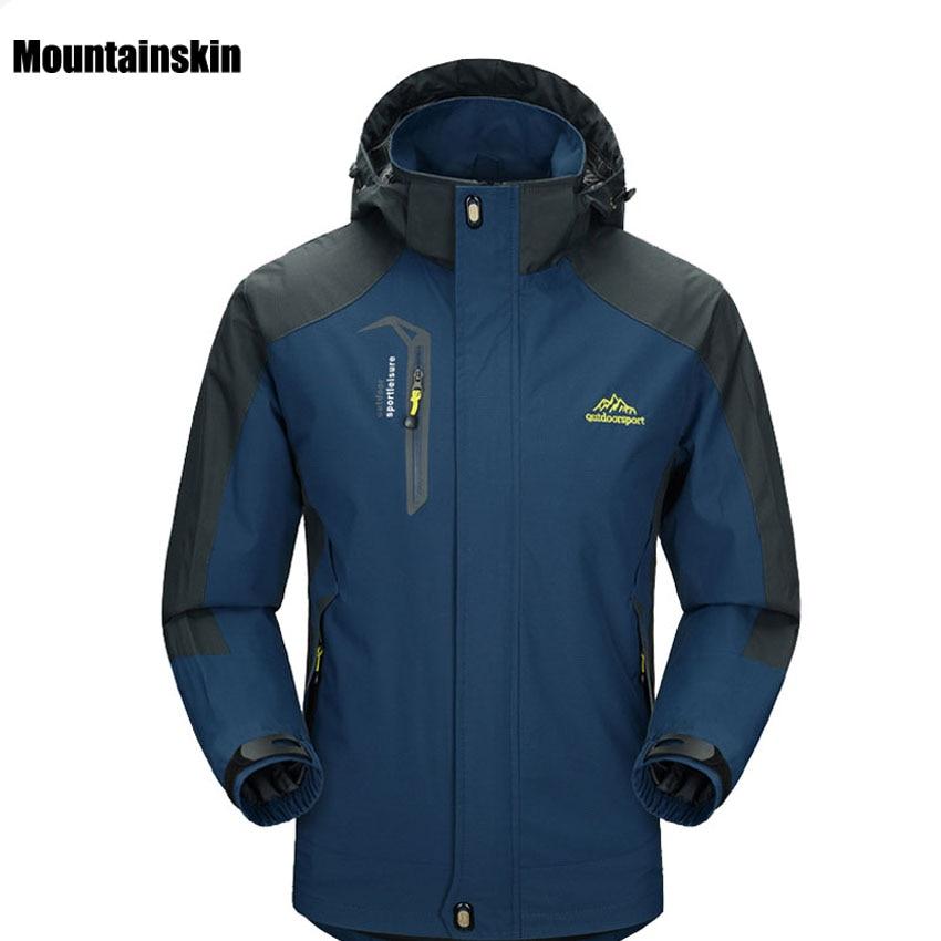 все цены на 2017 New Spring Autumn Mens Softshell Hiking Jackets Male Outdoor Camping Trekking Climbing Coat For Waterproof Windproof VA002 онлайн
