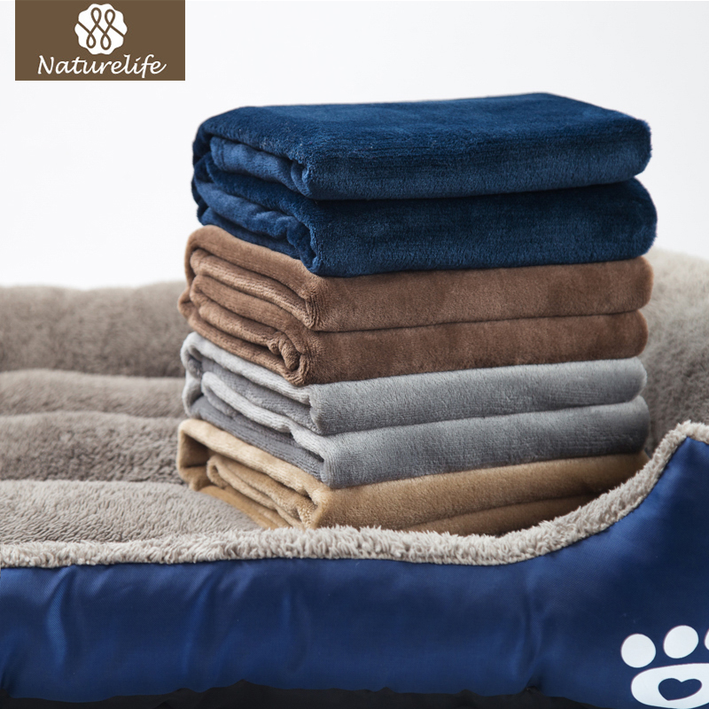 Naturelife Warm Blanket for Dog Bed and Pets Washable Small Size Throw Manta Soft Blanket for Dog and Cat Cushion Manta Coberto