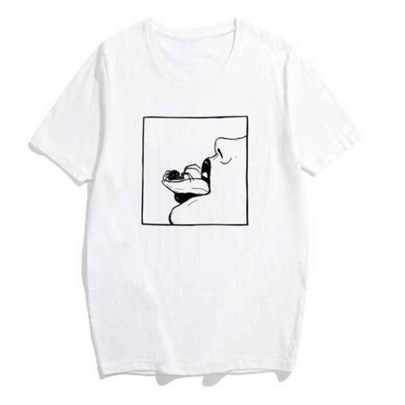 Hirigin ユニセックス Adlut 男性女性半袖 tシャツ夏の綿は、基本的な Tシャツ