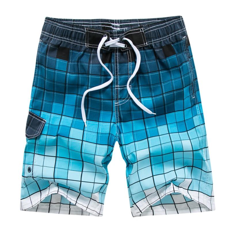 Newest Fashion Mens Board Shorts Summer Plaid Design Quick Dry Casual Men Boardshorts M-3XL Drop Shipping ABZ240