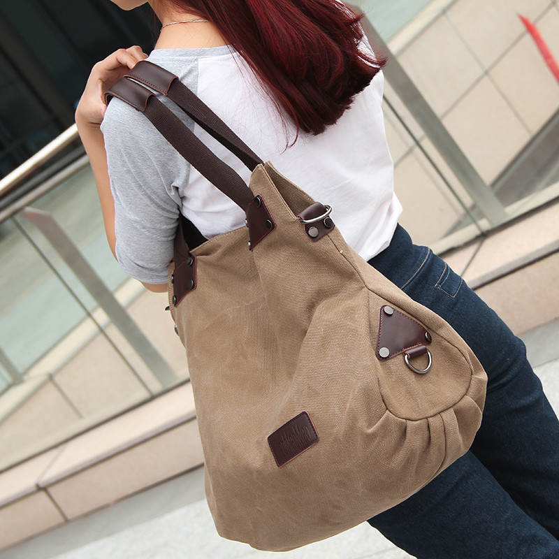 New Casual Vintage Women Large Capacity Shoulder Bags Canvas Messenger Bag Zipper Women's Tote Clutch Handbags Bolsa Feminina osmond women handbags 2017 simple canvas shoulder bags casual vintage solid hobos bolsa feminina large capacity ladies tote bag