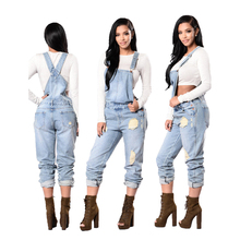 Fashion Women Ladies Baggy Denim Jeans Bib Full Length Pinafore Dungaree Overall Light Blue Causal Jumpsuit Pants Summer Hot bow detail oversized pinafore jumpsuit
