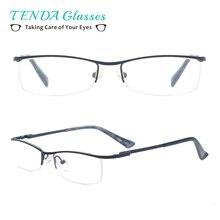 Модные металлические женские очки с половинной оправой, женские очки для чтения