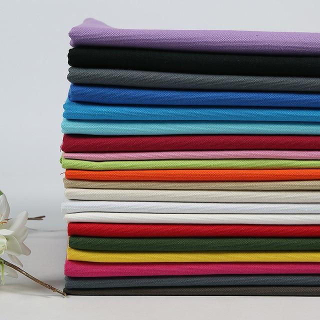 2 Meters Solid Color Plain Cotton Canvas Fabric 150cm Width Sofa