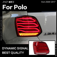 AKD Car Styling for VW Polo Tail Lights 2009 2017 Polo Mk6 LED Tail Lamp LED DRL Dynami Signal Brake Reverse auto Accessories