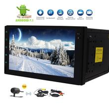 2 Din Car Stereo Android 7.1 Support GPS Navigation FM/AM Radio 4G WIFI OBD2 SWC Bluetooth Cam-In & Free Wireless Rear Camera