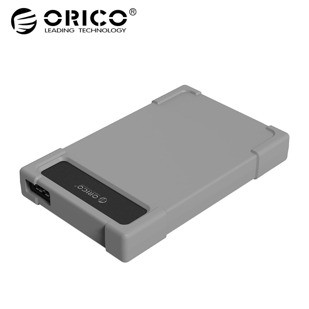 ORICO USB Sata 3.0 Hard Drive Enclosure Adapter Case SATA Tool Free for 2.5 inch Mobile External HDD Box with Silicone ugreen hdd enclosure sata to usb 3 0 hdd case tool free for 7 9 5mm 2 5 inch sata ssd up to 6tb hard disk box external hdd case