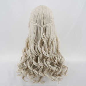 Image 5 - Alice in Wonderland 2 White Queen Cosplay Wig Blonde Wavy Long Synthetic Hair Heat Resistance Fiber Halloween Party Costume Wigs