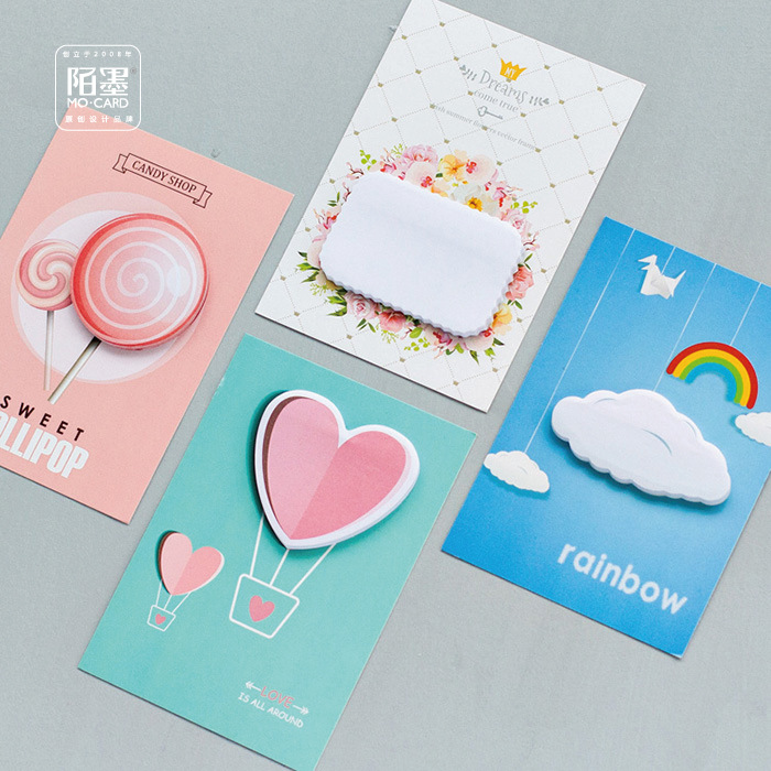 5 sets/1 lot Creative Love Memo Pad Sticky Notes Escolar Papelaria School Supply Bookmark Post it Label