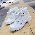 Mulheres sapatas de lona 2017 primavera das mulheres sapatos casuais de alta top respirável plana sapatos zapatillas mujer branco tamanho 41 42 43