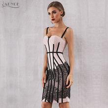 Lace Spaghetti Strap Club Dress