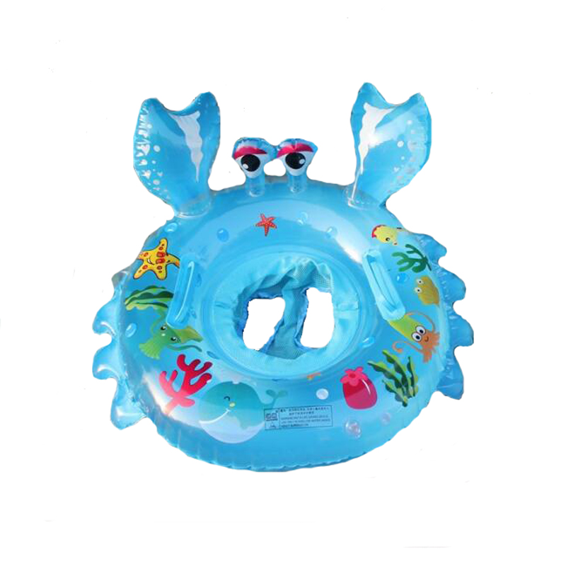 Cartoon Children Swimming Seat Baby Inflatable Float Boat Fish Print Swimming Pool Accessories Toddler Floating Ring