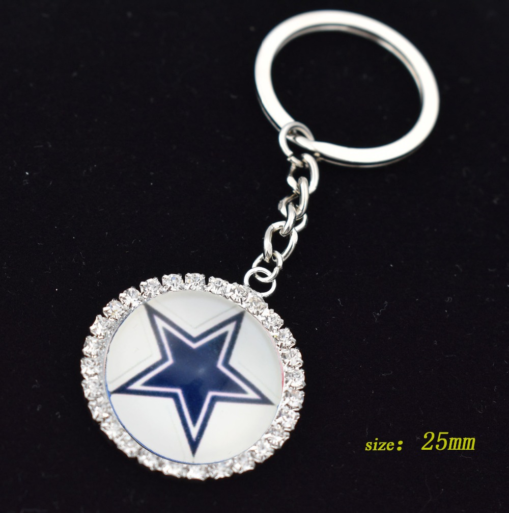 Eyeglasses dallas - New High Quality Glass Football Team Dallas Cowboys Stretchable Eyeglass Holder Id Badge Holder Keychain
