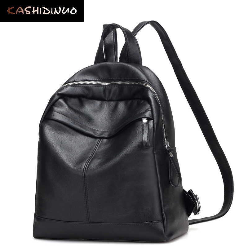 KASHIDINUO Brand Korean Women Leather Backpacks Fashion Women Student Schoolbag for Teenage Girls Backpacks Travel Shoulder