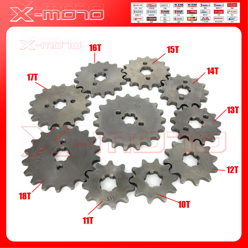 428 10-19 Tooth 20mm ID Front Engine Sprocket for Stomp YCF Upower Dirt Pit Bike ATV Quad Go Kart Moped Buggy Scooter Motorcycle 428h chain rear sprocket 37 tooth 58mm diameter for crf50 xr50 dirt pit bike motorcycle motocross 428 gear fit 10inch rear wheel