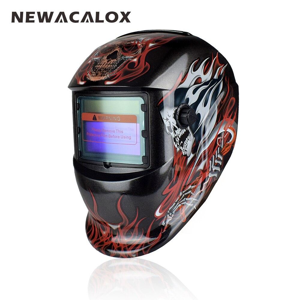 FäHig Newacalox Schädel Elektrische Schweißen Maske Solar Auto Verdunkelung Tig Mig Schweißen Helm Für Schweiß/schleifen/ir Erhaltung Schweißen Werkzeug