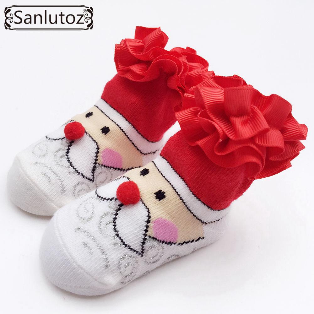 Honesty Sanlutoz Baby Socks New Born Christmas Gift Tulle Bow Lace Santa Holiday Birthday Gift For Infant Boys Girls 0-12 Months