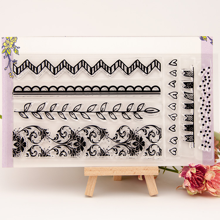 Flower lace frame transparent Clear Silicone Stamp/Seal for DIY scrapbooking/photo album Decorative clear stamp sheets art flowers and lace design transparent clear silicone stamp seal for diy scrapbooking photo album wedding gift cl 083