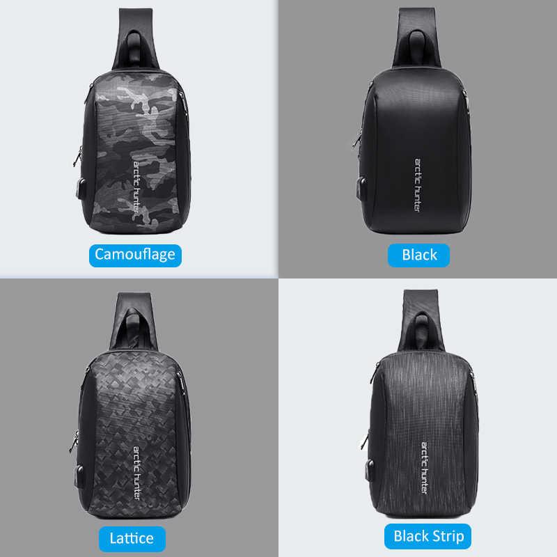 "ARCTIC HUNTER 081 bolsa de hombro para hombres impermeable USB carga bolsos cruzados para hombre viaje corto bolsa de mensajero ajuste 9,7 ""iPad"