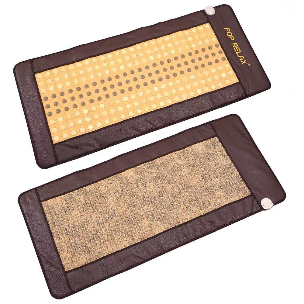 turmalina Photon terapia elétrica aquecida colchão lados AB pedra colchão para dormir