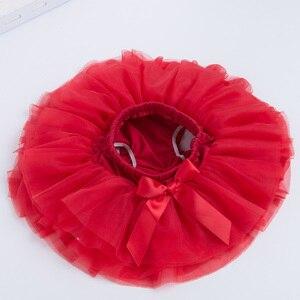 Милая юбка-пачка с бантом для маленьких девочек бальное платье с оборками, розовая, красная Пышная юбка-американка детская одежда из тюля, 6 слоев