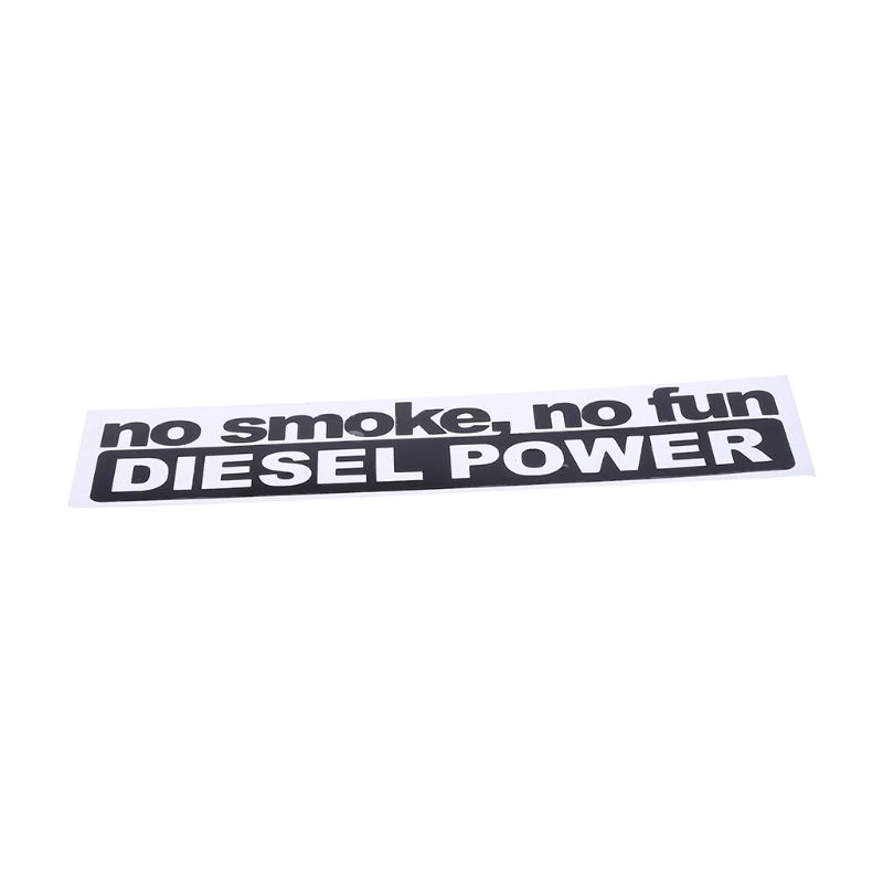14 5CM 3 4CM Fashion NO SMOKE NO FUN DIESEL POWER Vinyl Decoration Car Sticker Decals Graphical in Car Stickers from Automobiles Motorcycles