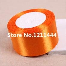 25 метров/рулон 50 мм ярко-оранжевый Ленты для Свадебная вечеринка Аксессуары оптовая продажа Подарки упаковки лентой