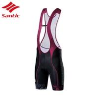 Santic Bicycle Shorts Cycling Bib Shorts Women Summer Breathable triathlon cycling bib Italy Pro Sponge Padded Culotte Ciclismo