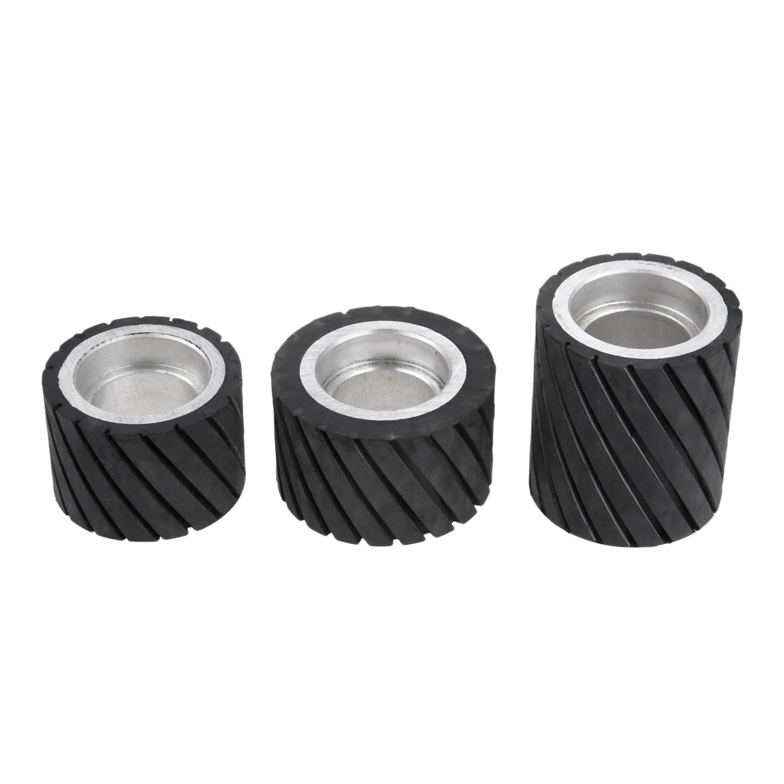 Black Bearings Belt Grinder Rubber Wheel Grinder Accessory 70 x 50mm