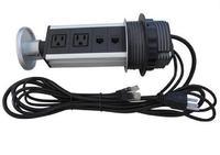 Gabe pull up versteckte steckdose mit 2 UNS power 2 cat6 kabel stecker silber/schwarz  smart buchse  freies verschiffen
