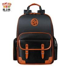 Медведь Отдел семья ортопедические рюкзаки детские школьные сумки детей Водонепроницаемый рюкзак bagpacks школы Teen цвет: черный, синий книга сумки