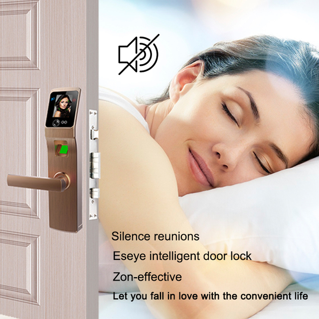 Eseye Electronic Lock Door Face Fingerprint Password Digital Door Lock Electronic Locks Smart Door Lock Touch Screen Keyless