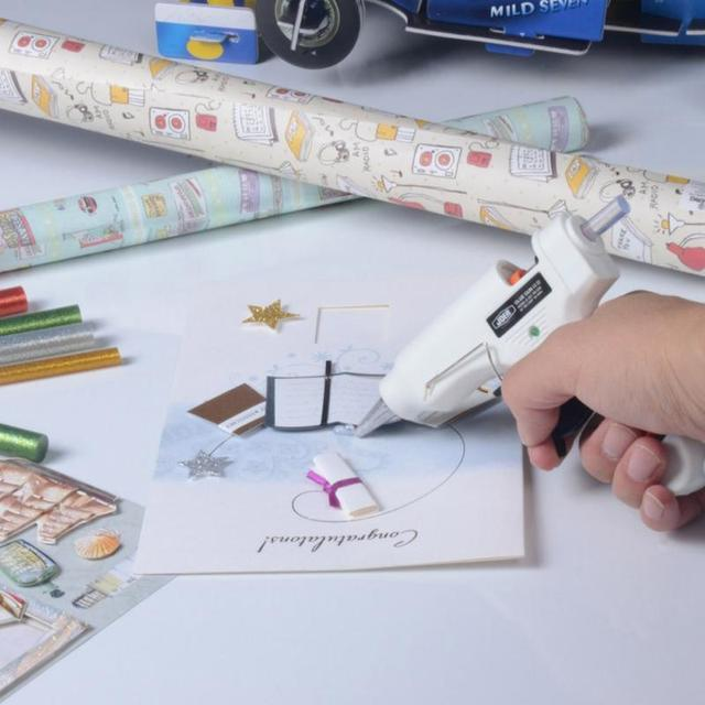 EU Plug 100V-240V 20W High Temp Heater Glue Gun Repair Heat tool For Hot Melt Glue Sticks Car Audio Craft Tools