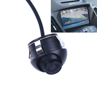 360 Rotate Waterproof Mini Wide Angle HD CCD Car Rear View Camera With Mirror Image Convert