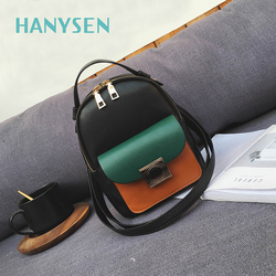 Hanysen 2017 new arrival panelled female bag mini backpack vintage pu leather cute small backpacks for.jpg 250x250