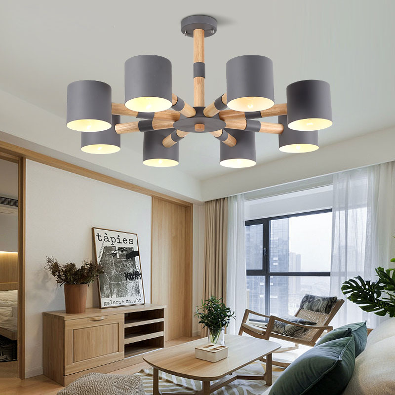 Modern Chandelier For Dining E27 Bulbs LED Lamps Modern Chandeliers With Solid wood chandelier living room iron lampshade      Modern Chandelier For Dining E27 Bulbs LED Lamps Modern Chandeliers With Solid wood chandelier living room iron lampshade