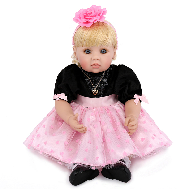 50cm Soft Lifelike Reborn Baby Doll Realistic Silicone Doll with Cotton Body Dolls Body Playing Toys for Children Birthday Gift short curl hair lifelike reborn toddler dolls with 20inch baby doll clothes hot welcome lifelike baby dolls for children as gift