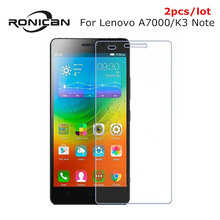 2pcs Tempered Glass Screen Protector For Lenovo A7000 9H Safety Protective Film On K3Note A 7000 Dual Sim Plus pelicula de vidro