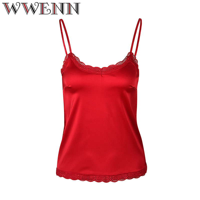 Crop Top Summer Women Silk Sexy Slim Lace Camis Camisole Women Tank Tops Halter 2018 Cropped Feminina Blusa Shirt Women Short