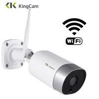 KingCam المعادن في الهواء الطلق 4MP Wifi IP كاميرا HD 2.4G مانعة اتجاهين الصوت ليلة الرؤية كاميرا أمان لاسلكية