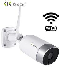 KingCam Metal açık 4MP Wifi IP kamera HD 2.4G hava koşullarına dayanıklı iki yönlü ses gece görüş kablosuz güvenlik kamera