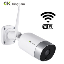 KingCam Metall Outdoor 4MP Wifi IP Kamera HD 2,4G Wetterfeste Zwei Weg Audio Nachtsicht Wireless Security Kamera