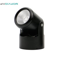 DVOLADOR Black Dimmable COB LED Downlight 7W 10W 15W 20W Ceiling Lamp Angle Adjustable Surface Mounted